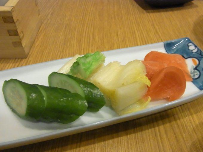 京都自然酒菜一瞬お漬物盛り合わせ