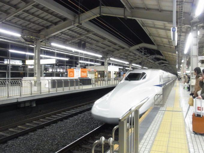 N700系のぞみ京都入線