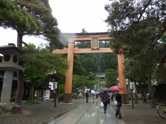 飛騨高山櫻山八幡宮鳥居