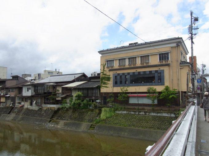 飛騨高山川沿いの渋い建物