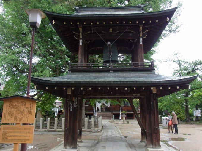 飛騨高山飛騨国分寺鐘楼と大銀杏