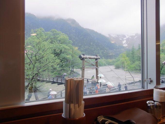信州上高地河童食堂からの眺め