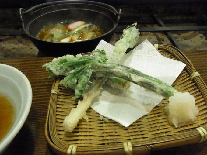 乗鞍高原温泉山水館信濃山菜の天ぷら