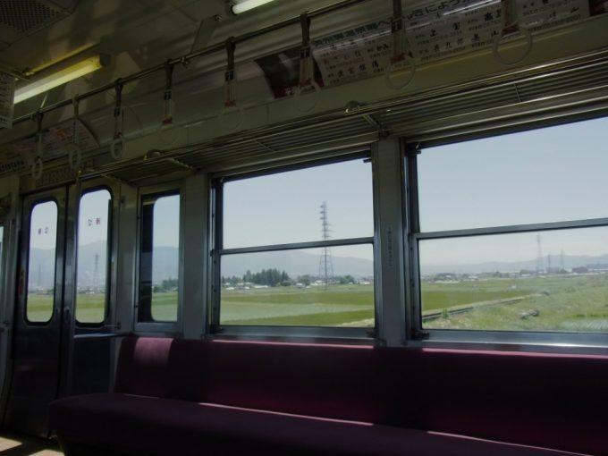 アルピコ交通上高地線旧井の頭線車窓を彩る信州の初夏