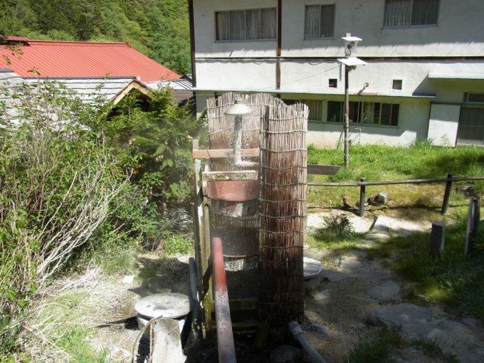 信州秘湯中房温泉源泉冷却装置