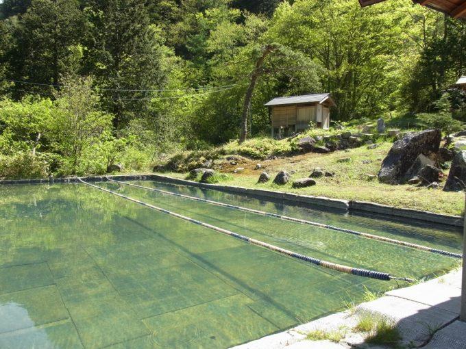 信州秘湯中房温泉巨大温泉プール