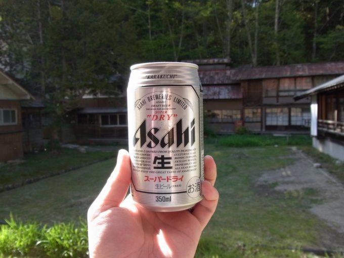 信州秘湯中房温泉湯上がりのビール