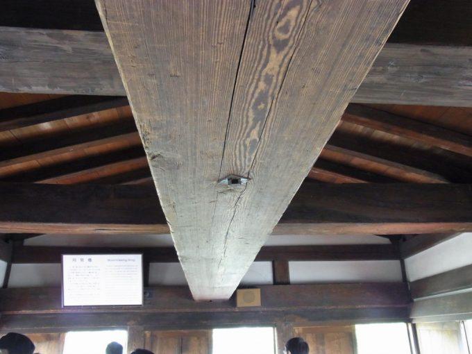 現存十二天守国宝松本城月見櫓の船底天井
