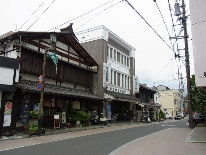 古き良き建物が点在する松本の街