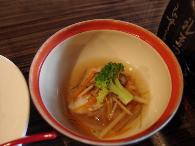 青根温泉岡崎旅館太刀魚の野菜あんかけ