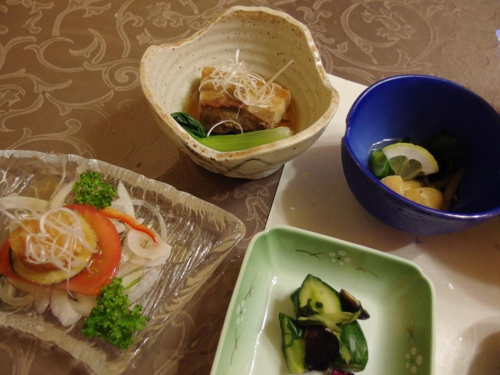 花巻台温泉中嶋旅館角煮にほやとマリネサラダ