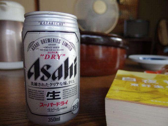 夏の瀬見温泉喜至楼湯上がりに冷たいビール