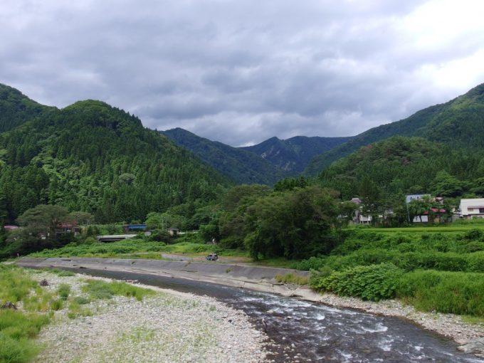 山形の清流小国川と釣り人