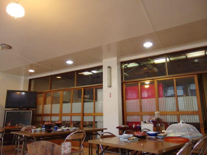 瀬見温泉喜至楼昭和レトロダンスホールにも使われた食事会場