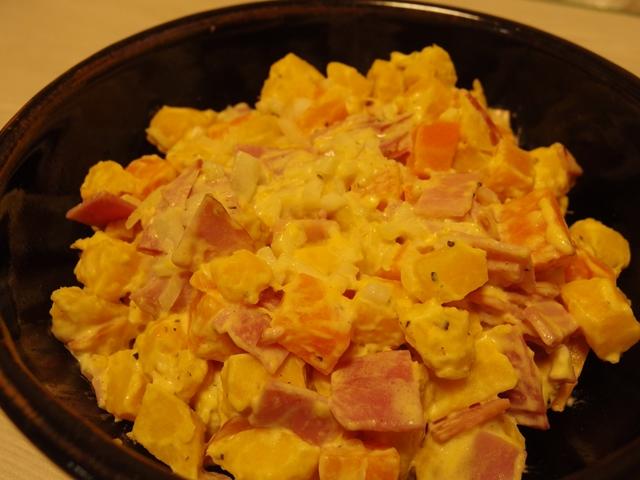安納芋とにんじんのレモンマヨサラダ