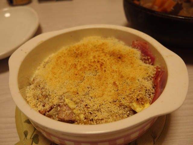 安納芋と里芋のゴマヨ焼き