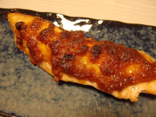 秋鮭の甘辛味噌焼き