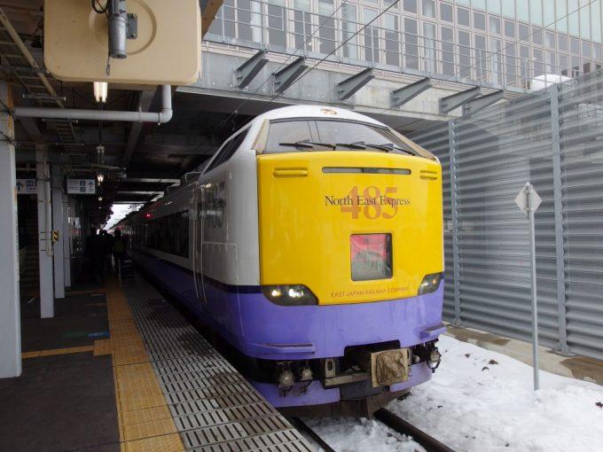 在りし日の国鉄型485系特急白鳥函館行き