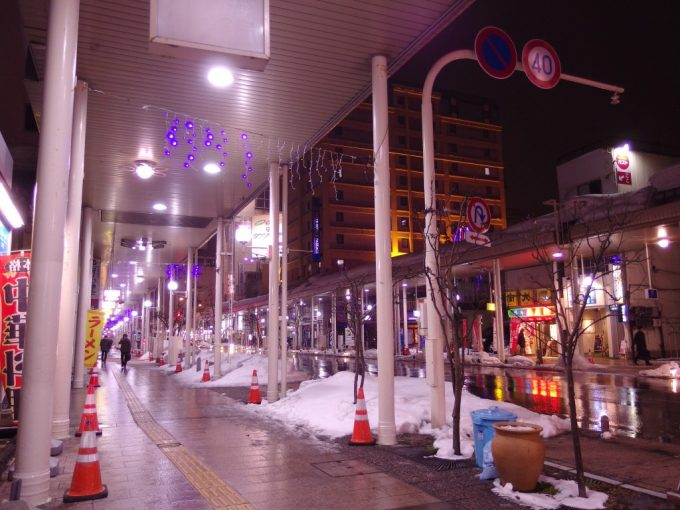 厳冬の青森雪国での夜