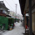 厳冬の青森雪の市場通り