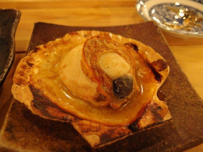 青森郷土料理津軽三味線りんご箱ほたてバター焼き