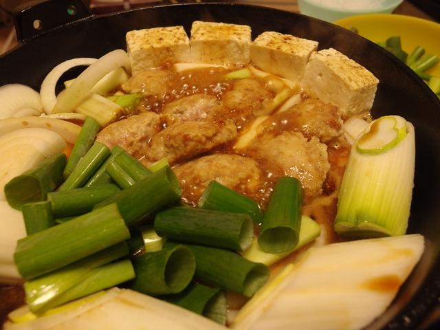 ねぎくらべ鶏団子すき焼き