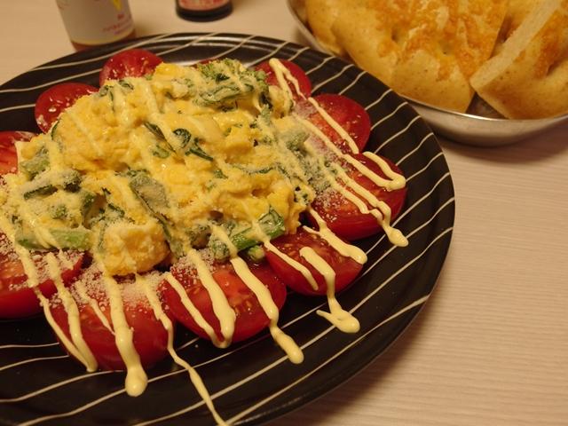 菜の花とスクランブルエッグのサラダ
