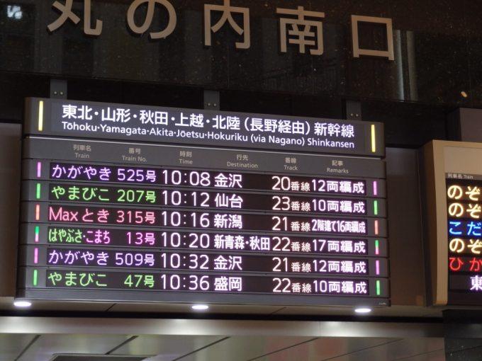 北陸新幹線が開通し行先は金沢へ