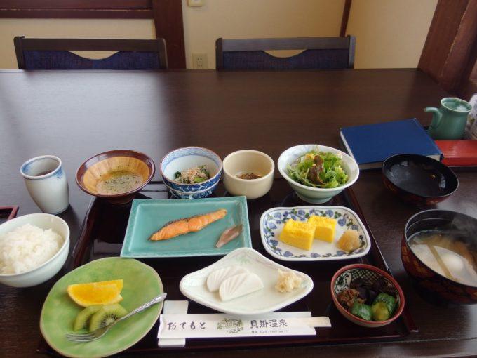 奥湯沢目の湯貝掛温泉2日目朝食