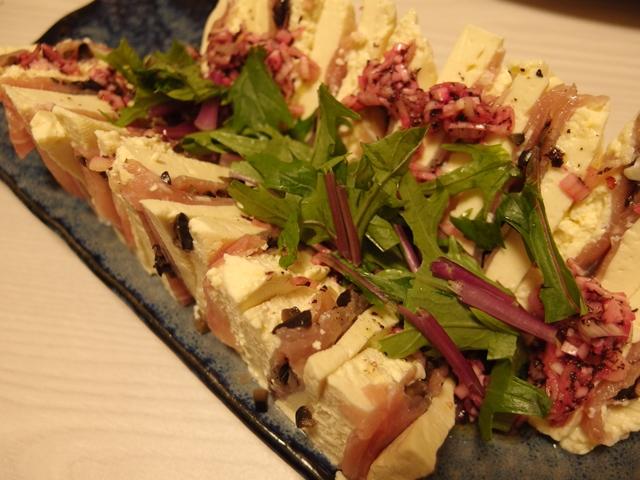 生ハムの豆腐サンド