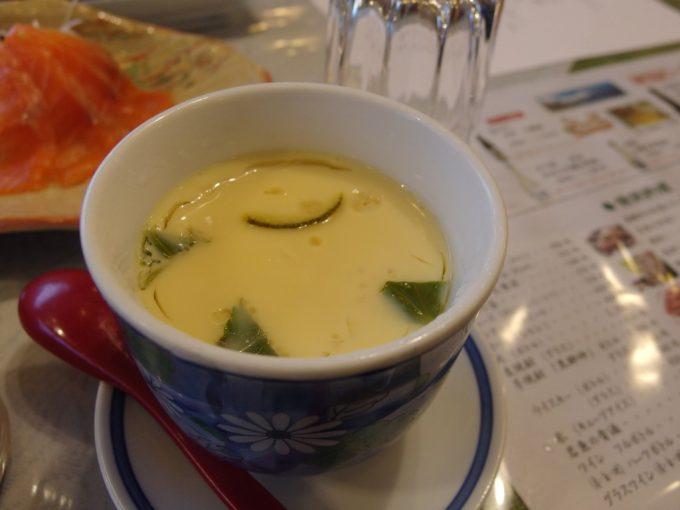 秘湯中の湯温泉旅館生湯葉かに豆乳茶碗蒸し