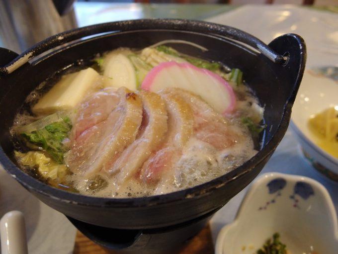秘湯中の湯温泉旅館鴨鍋