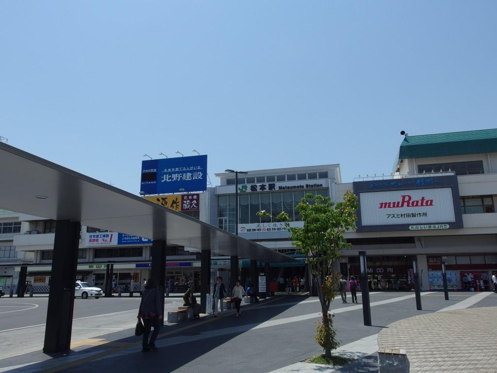 初夏の青空松本駅