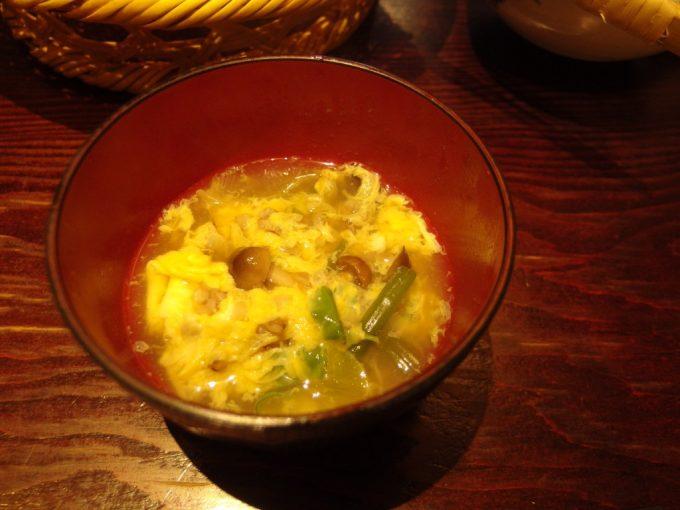 松本そばきりみよ田とうじそば仕上げのそば米雑炊