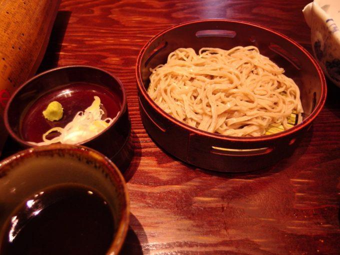 松本そばきりみよ田投汁そばプラン〆のもりそばで蕎麦三昧