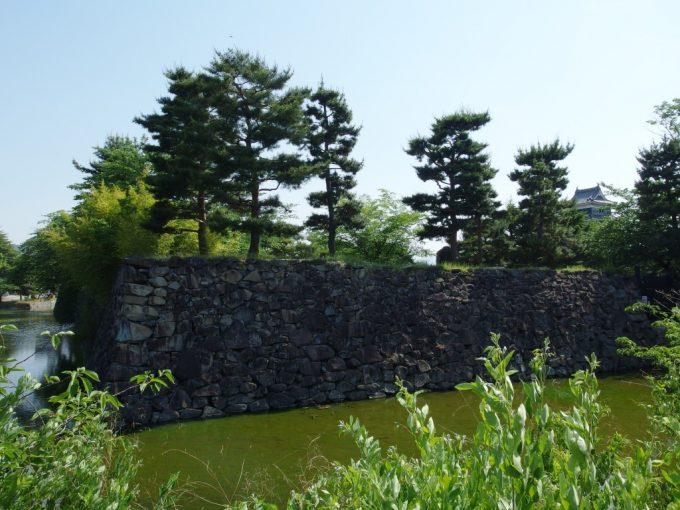 初夏の国宝松本城粗く積まれた石垣
