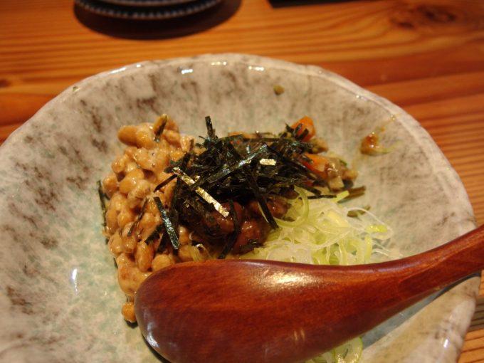 松本藩酒場酒楽殿様納豆と徳川献上品松本一本葱