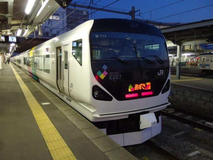 中央本線E257系特急あずさ号新宿行き
