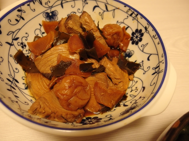 かつおと新生姜の梅煮