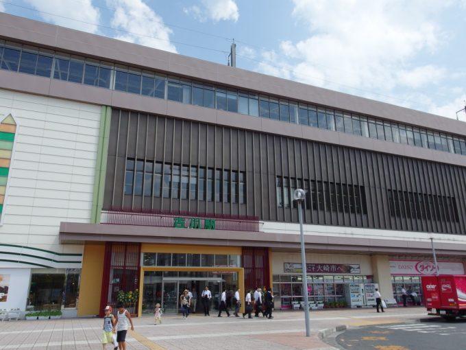 真夏の古川駅