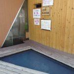 夏の鳴子温泉駅足湯