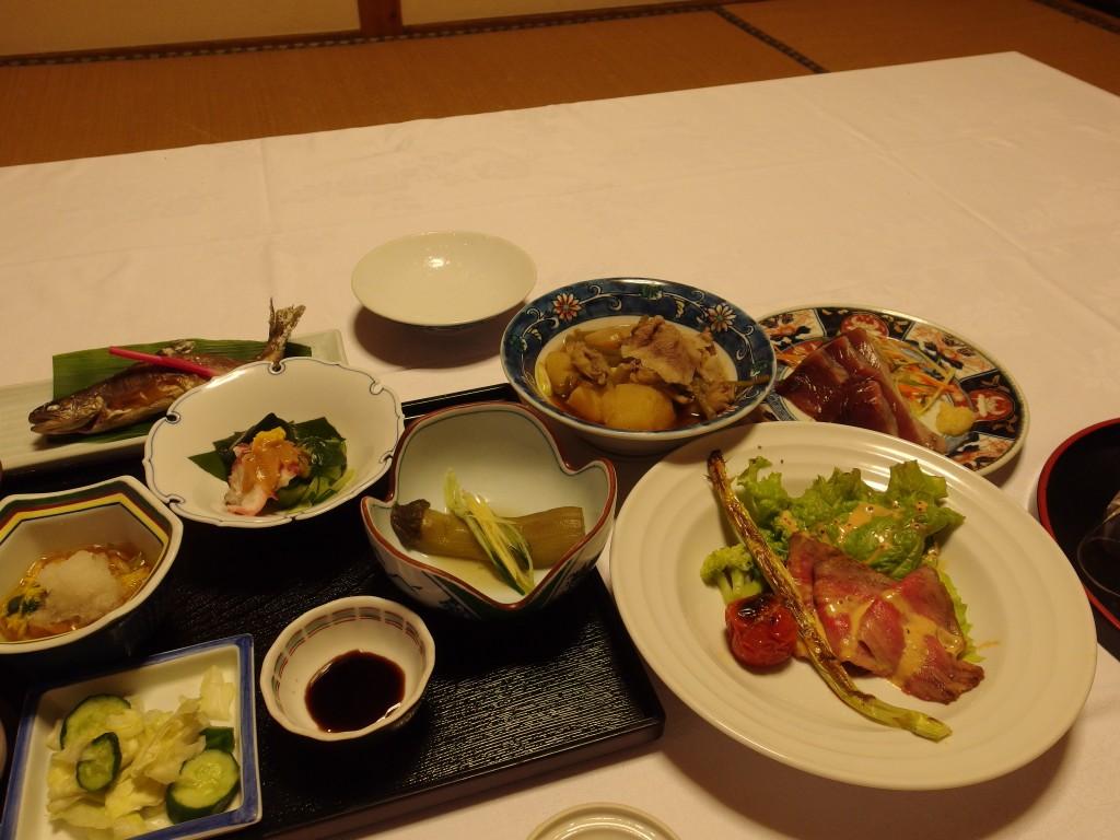 赤倉温泉湯守の宿三之亟夕食