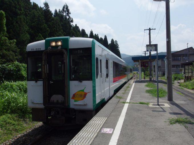 真夏の陸羽東線キハ110新庄行き
