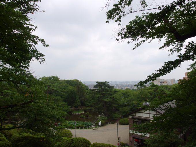 秋田久保田城址千秋公園から眺める秋田の街