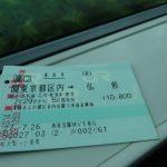 東京発弘前行き旅を共にした乗車券とももうすぐお別れ