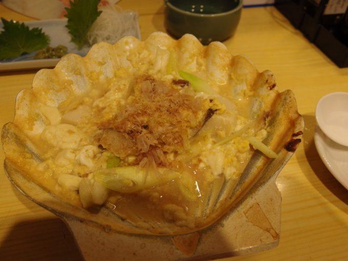 弘前居酒屋夢地貝焼き味噌