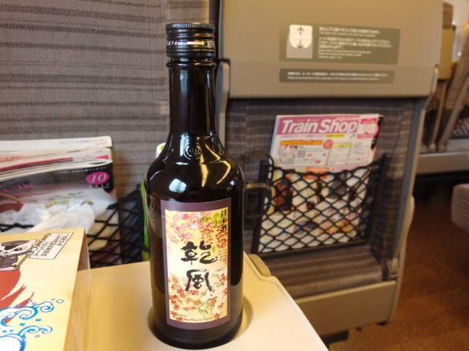 東北新幹線車内で伏見の酒乾風