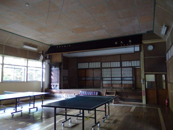 大沢温泉湯治屋自炊部渋い佇まいの講堂