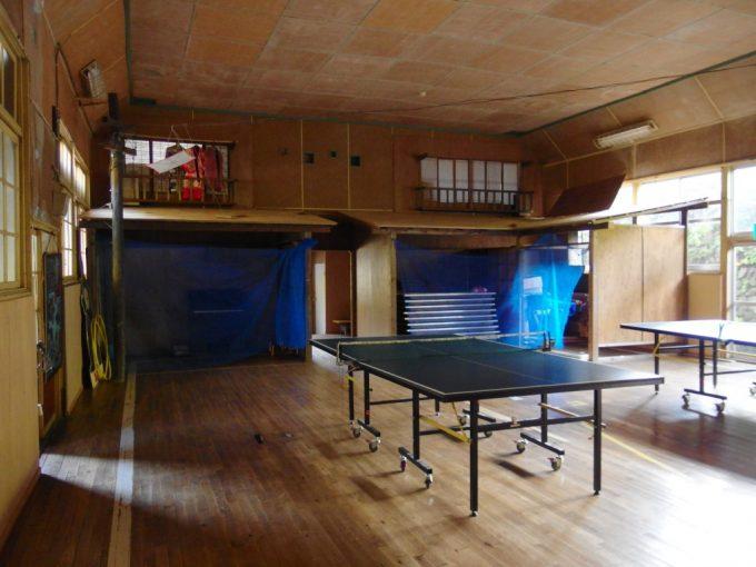 大沢温泉湯治屋自炊部お芝居や映画の上映もされた講堂