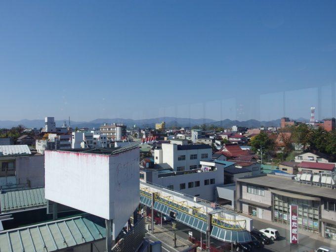 マルカン百貨店大食堂から眺める花巻の街並み